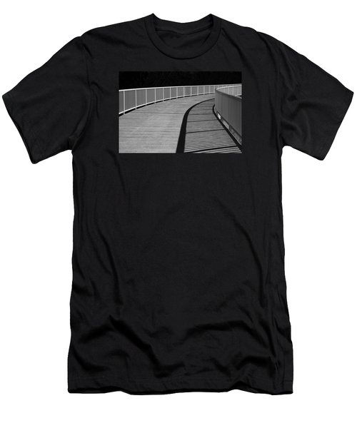 Men's T-Shirt (Slim Fit) featuring the photograph Walkway by Chevy Fleet