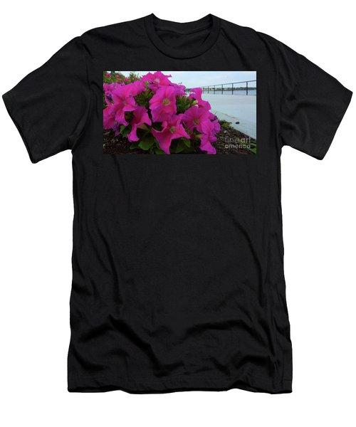 Walkway Petunias Men's T-Shirt (Athletic Fit)