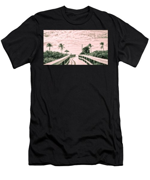 Walkway To The Beach Men's T-Shirt (Athletic Fit)