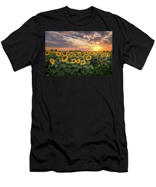 Wall Of Sunflowers Men's T-Shirt (Athletic Fit)
