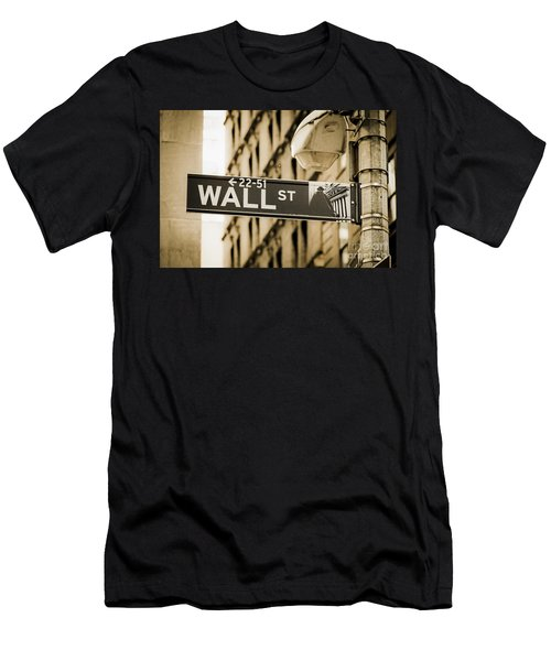 Men's T-Shirt (Athletic Fit) featuring the photograph Wall Street by Juergen Held