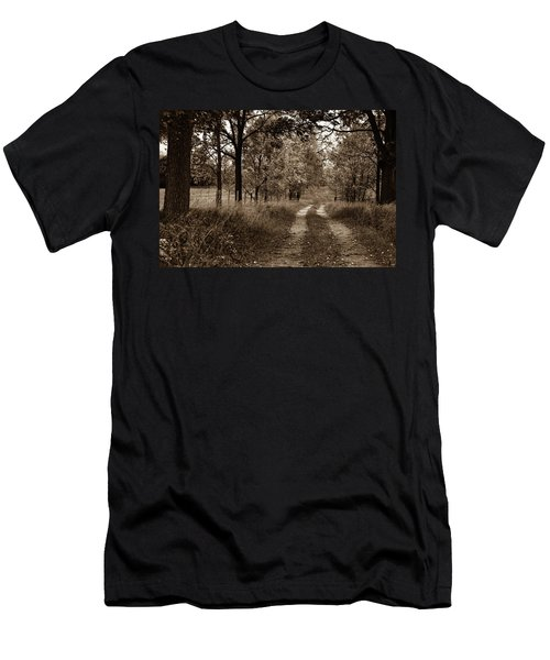 Men's T-Shirt (Athletic Fit) featuring the photograph Walnut Lane Antiqued by Melissa Lane