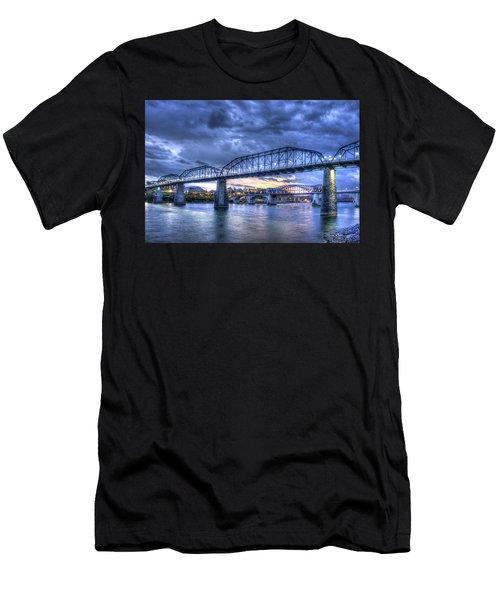 Walnut Street Pedestrian Bridge Sunset Chattanooga Tennessee Art Men's T-Shirt (Athletic Fit)