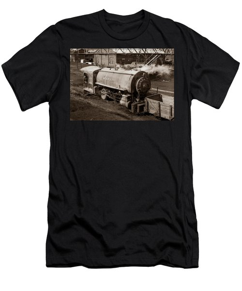 Wanamie Pennsylvania Coal Mine Locomotive Lokey 1969... Men's T-Shirt (Athletic Fit)