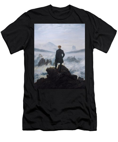 Wanderer Above The Sea Of Fog Men's T-Shirt (Athletic Fit)