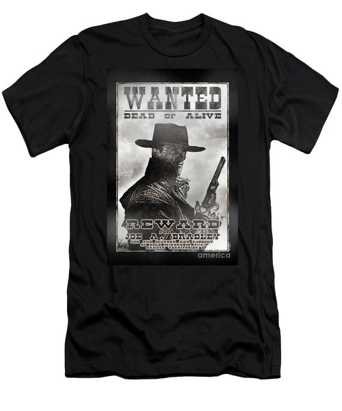 Wanted Poster Notorious Outlaw Men's T-Shirt (Athletic Fit)