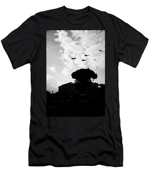War Helicopters Over The Imperial Fora Men's T-Shirt (Athletic Fit)