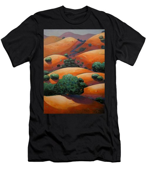 Warm Afternoon Light On Ca Hillside Men's T-Shirt (Athletic Fit)