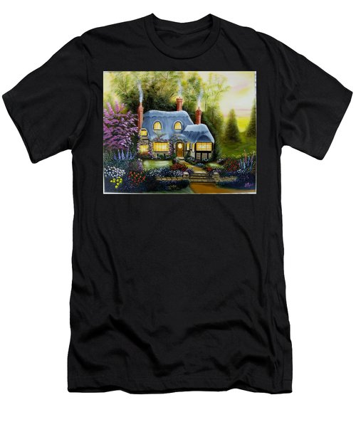 Warm And Cozy Cottage Men's T-Shirt (Athletic Fit)