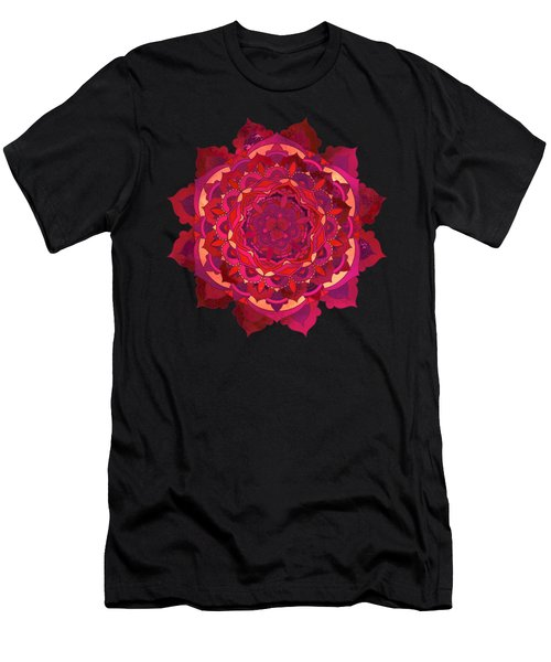 Warm Autumn Mandala Men's T-Shirt (Athletic Fit)