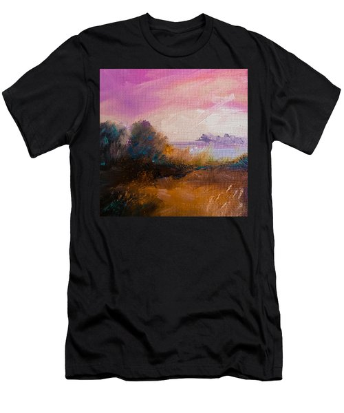 Warm Colorful Landscape Men's T-Shirt (Slim Fit)