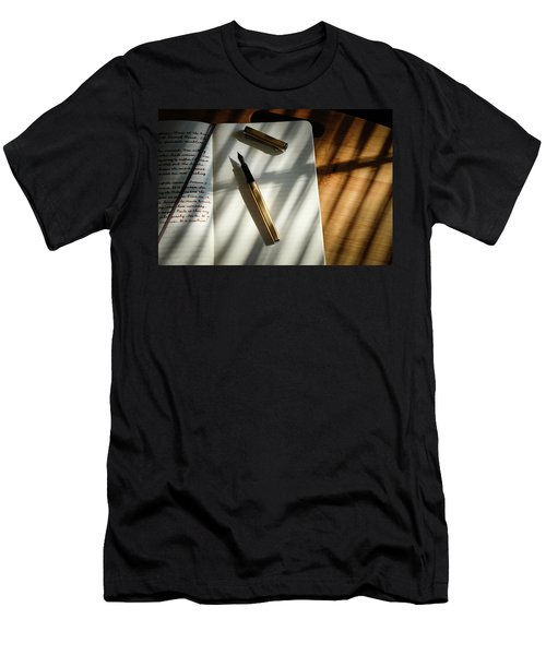 Men's T-Shirt (Athletic Fit) featuring the photograph Warm Gold Colors by Monte Stevens