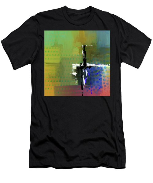 Men's T-Shirt (Athletic Fit) featuring the mixed media Warm Spring Night by Eduardo Tavares