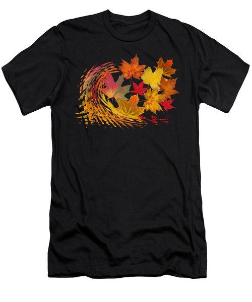 Warm Winds - Autumn Leaves Abstract Men's T-Shirt (Athletic Fit)