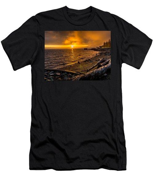 Warming Sunrise Commencement Bay Men's T-Shirt (Athletic Fit)