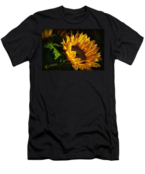 Men's T-Shirt (Athletic Fit) featuring the photograph Warmth Of The Sunflower by Michael Hope