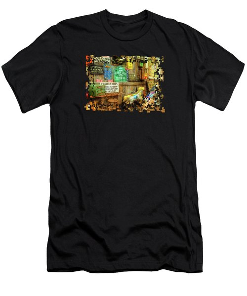 Warning Building Unsafe Men's T-Shirt (Athletic Fit)