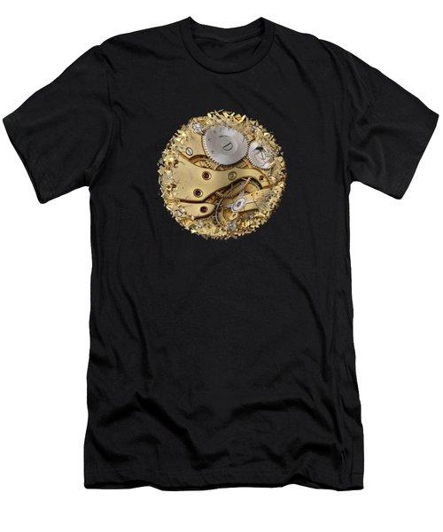 Warped And Shattered Clockwork Mechnism Men's T-Shirt (Athletic Fit)
