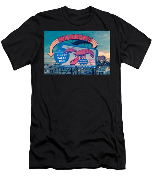 Warrens Lobster House Neon Sign Kittery Maine Men's T-Shirt (Athletic Fit)