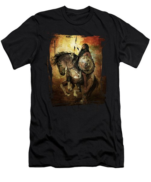 Men's T-Shirt (Slim Fit) featuring the digital art Warrior by Shanina Conway
