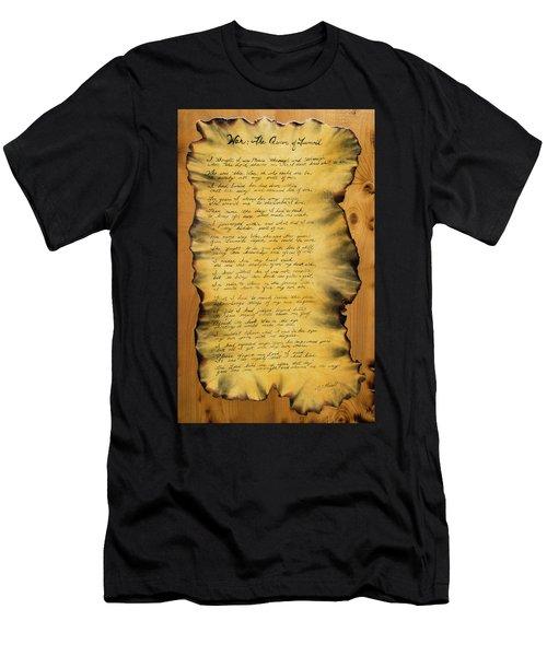 War's Poem Men's T-Shirt (Athletic Fit)