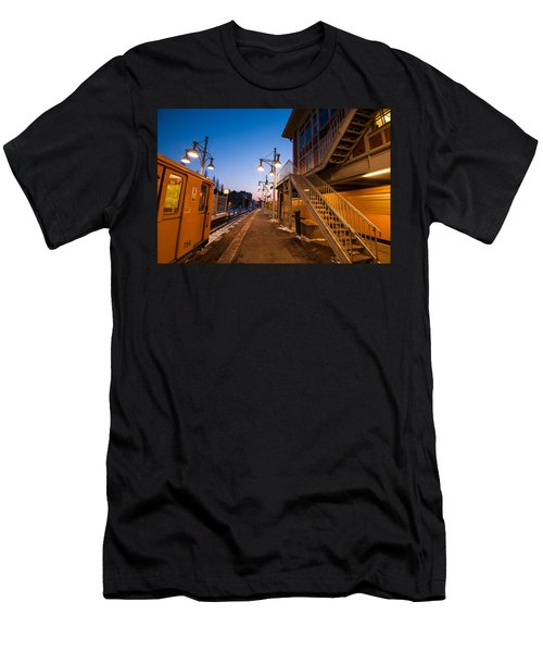 Warschauer U Bahn Sunset Men's T-Shirt (Athletic Fit)