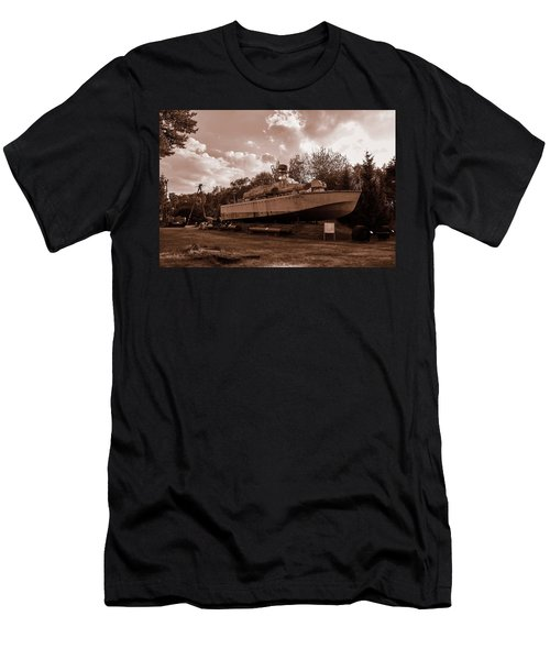 Men's T-Shirt (Athletic Fit) featuring the photograph Warship by Tgchan