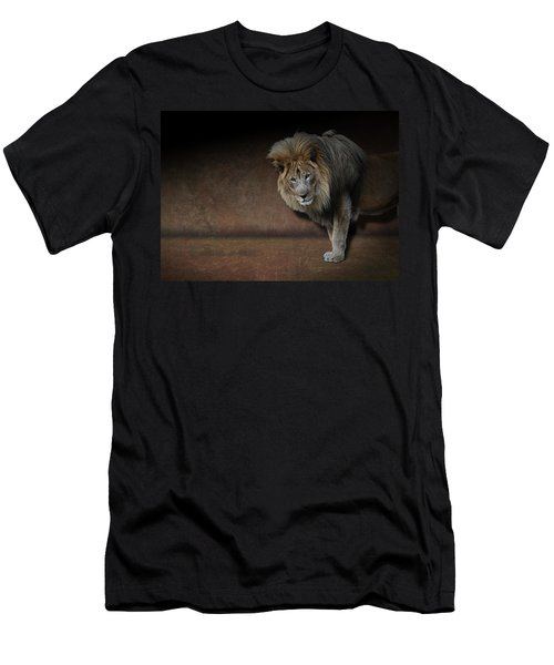 Was That My Cue? - Lion On Stage Men's T-Shirt (Athletic Fit)