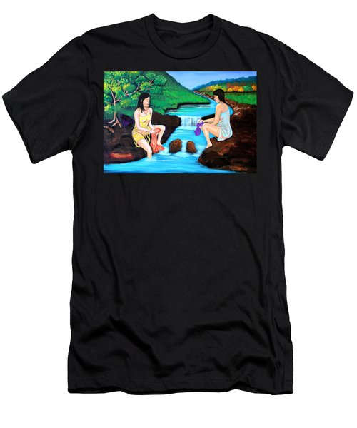 Washing In The River Men's T-Shirt (Athletic Fit)