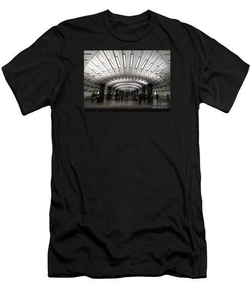 Washington Dc Metro Metro Center Stop Men's T-Shirt (Slim Fit) by Art Whitton