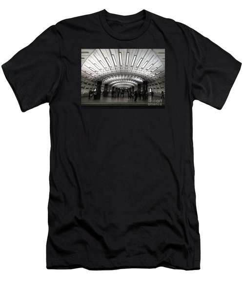 Washington Dc Metro Metro Center Stop Men's T-Shirt (Athletic Fit)
