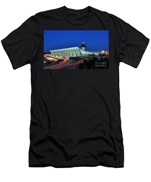 Washington Dulles International Airport At Dusk Men's T-Shirt (Slim Fit) by Paul Fearn