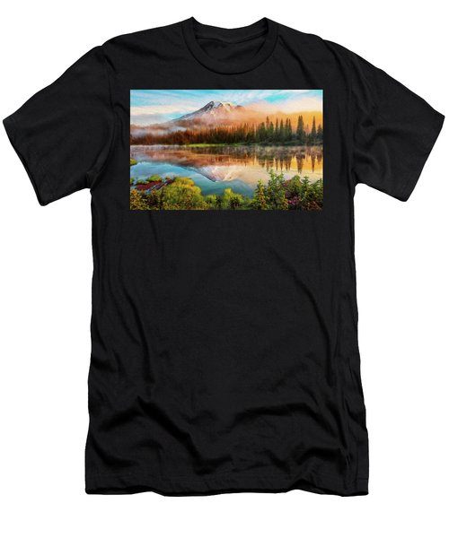 Washington, Mt Rainier National Park - 04 Men's T-Shirt (Athletic Fit)