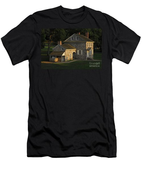 Men's T-Shirt (Slim Fit) featuring the photograph Washington's Headquarters At Valley Forge by Cindy Manero