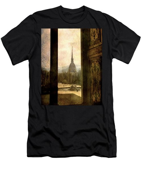 Watching Antonelliana Tower From The Window Men's T-Shirt (Athletic Fit)