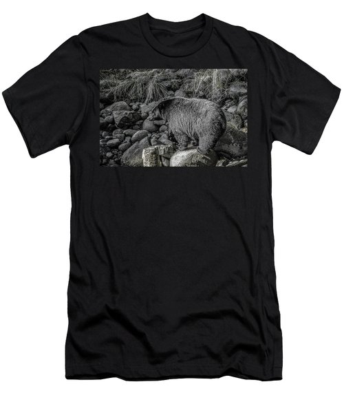 Watching Black Bear Men's T-Shirt (Athletic Fit)