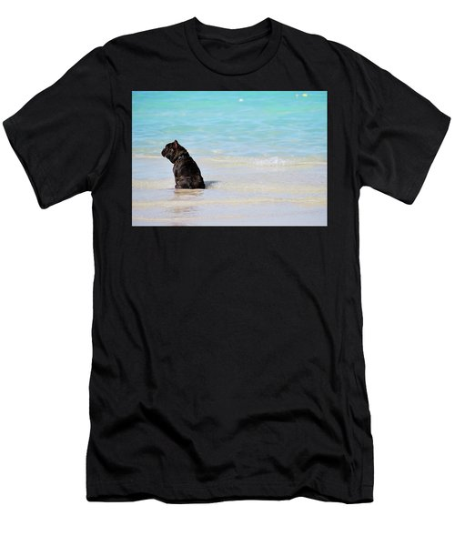 Watching The Waves Men's T-Shirt (Athletic Fit)