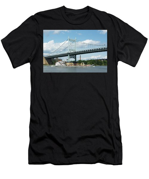 Water And Ship Under The Bridge Men's T-Shirt (Athletic Fit)