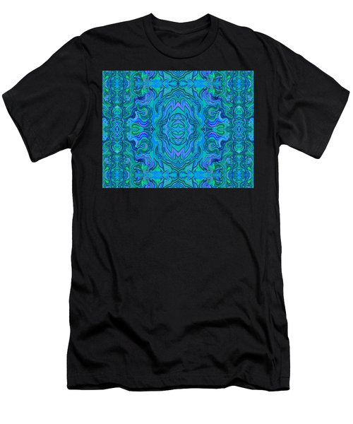 Water Art Pattern  Men's T-Shirt (Athletic Fit)