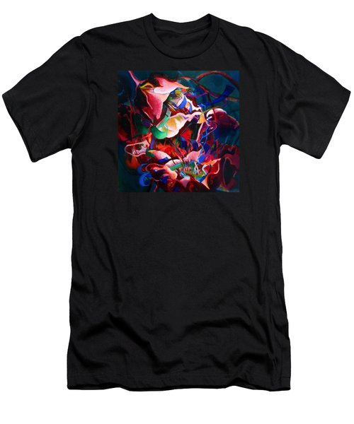 Men's T-Shirt (Slim Fit) featuring the painting Water Avens, Entanglement I by Georg Douglas