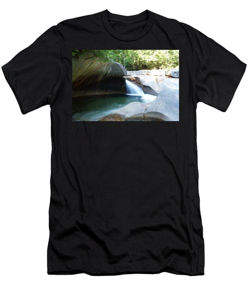 Men's T-Shirt (Slim Fit) featuring the photograph Water-carved Rock by Kerri Mortenson