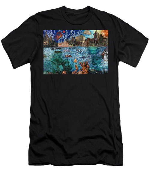 Water City Men's T-Shirt (Slim Fit) by Emily McLaughlin