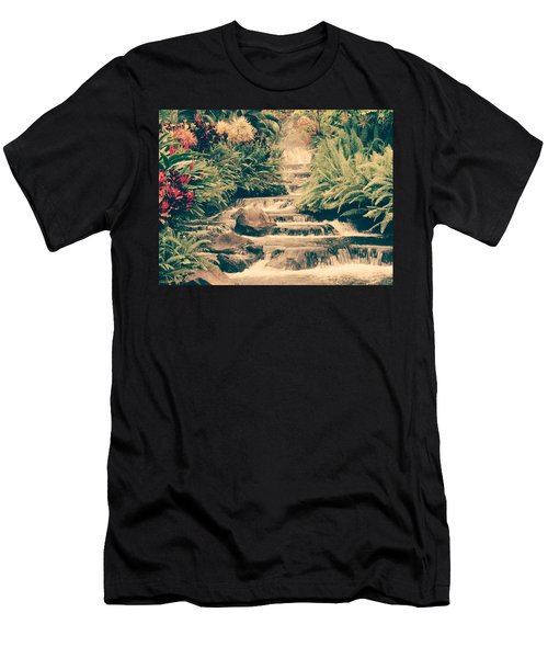 Men's T-Shirt (Slim Fit) featuring the photograph Water Creek by Sheila Mcdonald