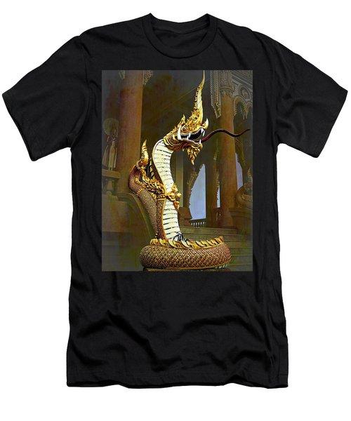 Water Dragon-  Phaya Naga Men's T-Shirt (Athletic Fit)