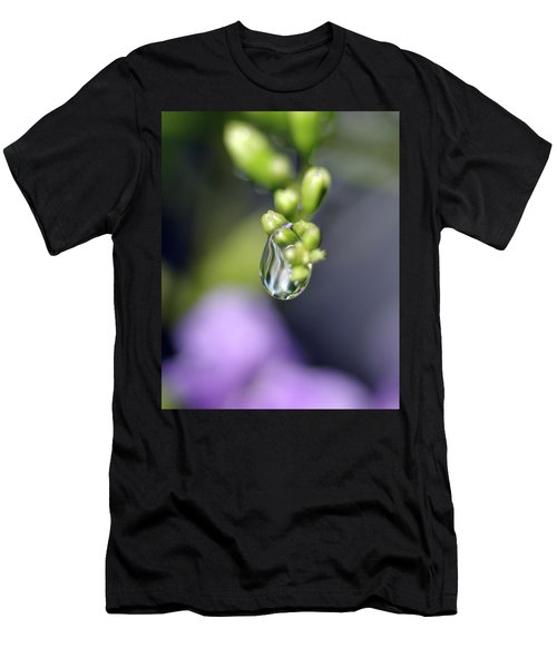 Men's T-Shirt (Slim Fit) featuring the photograph Water Droplet Iv by Richard Rizzo