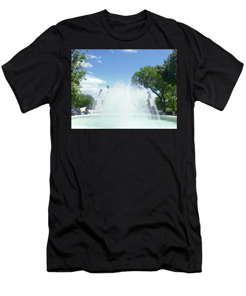 Water Fountain Ponce, Puerto Rico Men's T-Shirt (Athletic Fit)