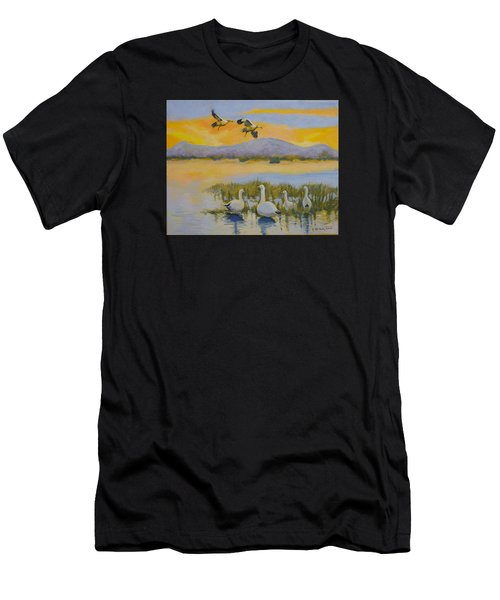 Water Fowl, Sutter Buttes Men's T-Shirt (Athletic Fit)