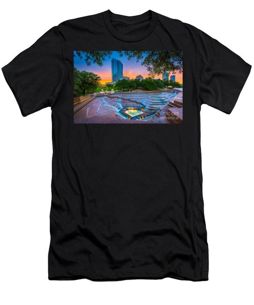 Water Gardens Sunset Men's T-Shirt (Athletic Fit)