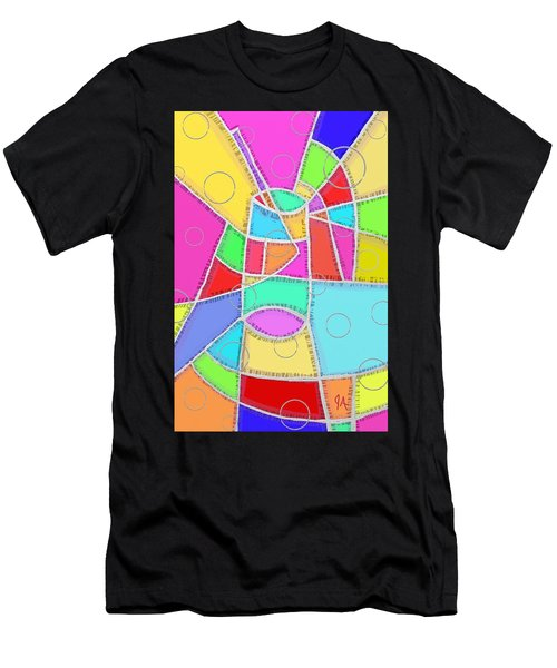Water Glass Of Light And Color Men's T-Shirt (Athletic Fit)