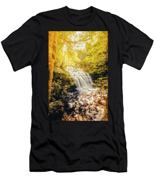 Water In Fall Men's T-Shirt (Athletic Fit)